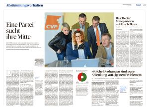 Die CVP Baselland steckt mitten in Gesprächen mit den Bürgerlichen für eine Wahl-Allianz 2019. Ein Problem ist, dass die Partei im Landrat kein verlässlicher Partner ist. Das zeigt die grosse Analyse der «Schweiz am Wochenende»