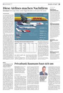Euroairport Die bz zeigt exklusiv, welche Fluggesellschaften wie oft nach 23 Uhr starten.